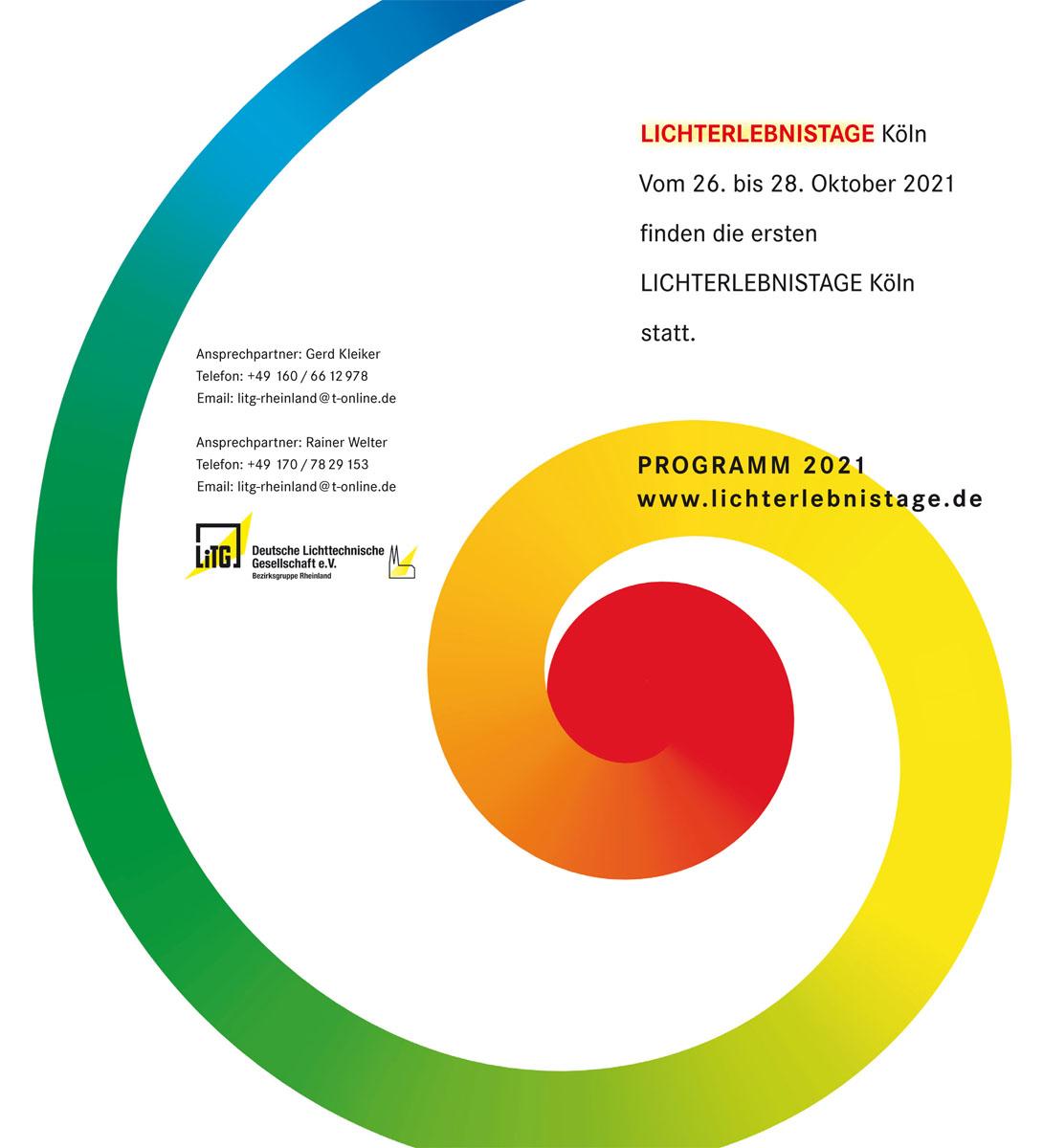 Lichterlebnistage Köln - Programm 2021