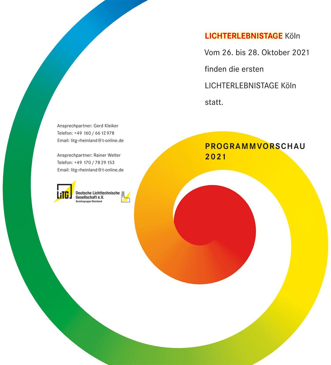 Lichterlebnistage Köln - Programmvorschau